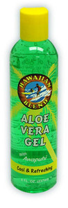 Hawaiian Blend Green Aloe Vera Gel With Awapuhi 8oz -  Cool & Refreshing