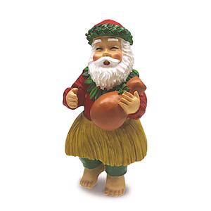 Hawaiian Hand-Painted Christmas Ornament - Chanting Santa