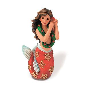 Hawaiian Hand-Painted Christmas Ornament - Hawaiian Mermaid