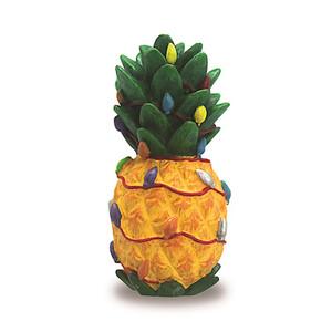 Hawaiian Hand-Painted Christmas Ornament - Holiday Pineapple