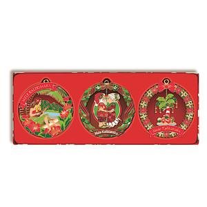 Copy of Hawaiian Mini Die-Cut Metal 3-Pack Christmas Ornament Set - Festive Holiday