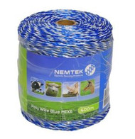 Nemtek Electric Fence Poly Wire 400M MIX6 [NMT060]
