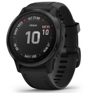 Garmin Fenix 6X Pro GPS watch - Black with Black Band