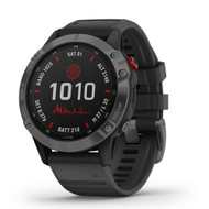 Garmin Fenix 6 Pro Solar GPS watch - Gray with Black Band