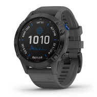 Garmin Fenix 6 Pro Solar GPS watch - Black with Gray band