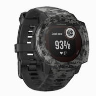 Garmin Instinct Solar GPS Watch Graphite Camo - works with Astro 430 & Alpha 100 handheld