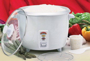 Rice Cooker, 6-12 Cups w/ Glass Lid