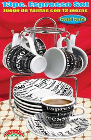 Espresso Set, 9 Piece Set