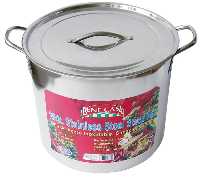 20 Qt Stainless Steel Stock Pot W Lid 14 95 By Ben Casa