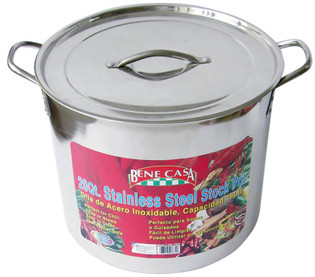 20 qt. Stainless Steel Stock Pot Set