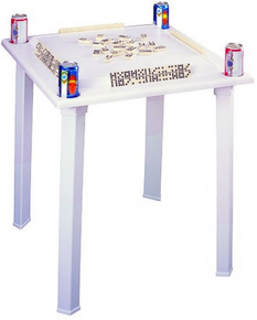 Game Table with Tile Racks & Drink Holders
