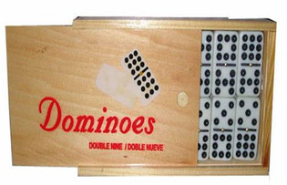 Double Nine Domino Set with Wood Case
