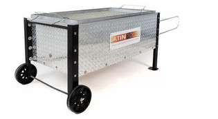 Caja China roasting box with Diamond Cut exterior 100 lbs. Whole pig roaster, also called a Cajun Microwave or China Box.