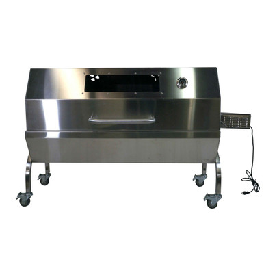 Stainless Steel Rotisserie with Glass Hood 125lbs (Closed) - Latin Touch