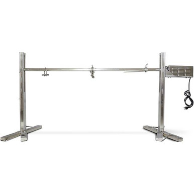 Stainless Steel Spit Rotisserie Roasting Stand 125 lbs - Latin Touch