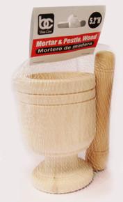 """Mortar & Pestle, Wood (5.2"""" H)"""