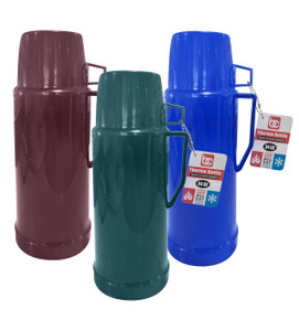 Thermos 1Ltr, Glass Liner ( Blu-Burg-Grn) Ast