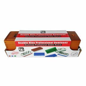 Wooden Box double 9 Dominoes
