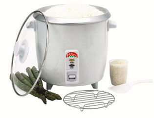 Rice Cooker, 10 Cup w/Glass Lid