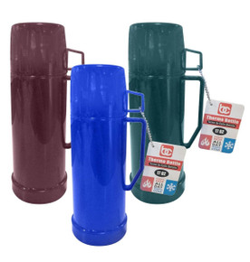 Thermos 1/2Ltr, Glass Liner (Blu-Burg-Grn) Ast