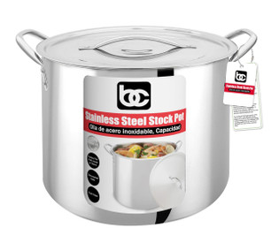 SS Stock Pot with Lid, Xtra Large