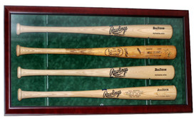 Show off your prized baseball bats with this custom baseball bat case to hold four bats!