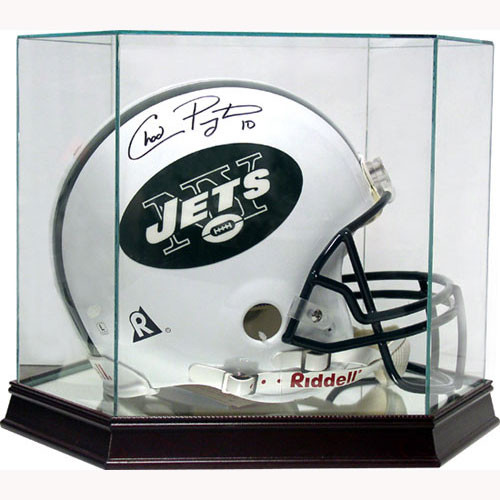 This football helmet display case is the best way to display your prized football helmet!