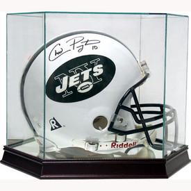 This football helmet display case is the best way to display your prized football helmet!