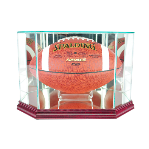 This football display case is the best way to display your prized football!