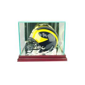 This mini football helmet display case is the best way to display your prized football helmet!