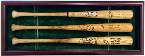 Show off your prized baseball bats with this custom baseball bat case to hold three bats!