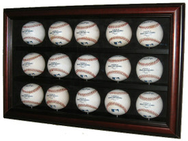 Display your prized baseball collection with this case that holds 15 baseballs!