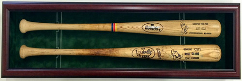 Show off your prized baseball bats with this custom baseball bat case to hold two bats!