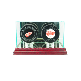 This two puck display case is the best way to hold your prized hockey pucks