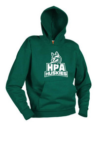 Dark Green Hooded Sweatshirt w/Screen Print HPA Logo