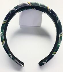 Padded Headband in Plaid 1B