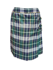 Girls Skort - 2 Button Tabs in Plaid 1B