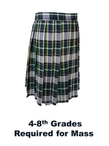 Girls Skirt - Knife Pleat in Plaid 1B
