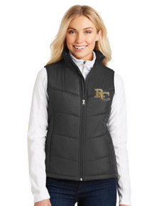 Ladies Port Authority Puffy Vest - Rock Canyon Football