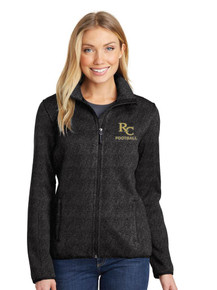 Ladies Port Authority Sweater Fleece Jacket - Rock Canyon Football