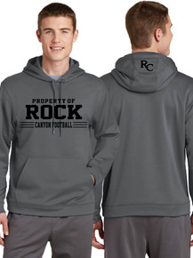 Camp Gray Hooded Sport-Tek Wicking Sweatshirt - Rock Canyon Football