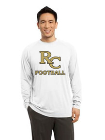 Men's Long Sleeve Cotton Soft Performance Shirt - Rock Canyon Football