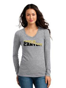 Junior Fit Long Sleeve V-Neck T-Shirt - RC Football