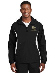 Men's 1/4 Zip Jacket - Anorak Wind Breaker - RC Fooball