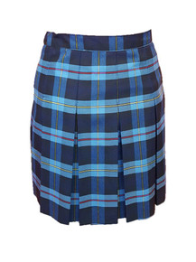 Girls Skirt - 10 Pleat Stitched Down Plaid 9A