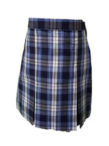 Girls Skirt - Center Box Pleat in Plaid 76