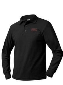 Pique Knit Long Sleeve Shirt w/logo