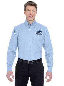 Ultra Club Men's Long Sleeve Wrinkle-Resistant Oxford for Legacy Staff