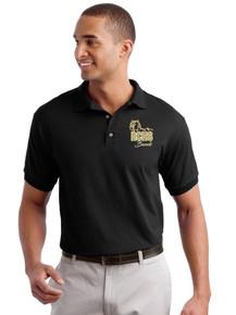 Black Gildan Dry Blend Polo w/Heat Press RC Band Logo
