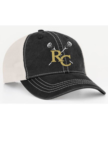 Ladies Black/White Adjustable Trucker Hat with RC Lacrosse